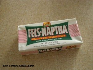 fels naptha for homemade laundry detergent