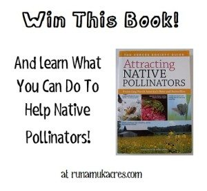 Attacting Native Pollinators book giveaway