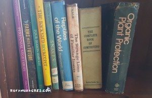 his books and mine