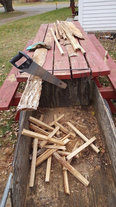 cutting slabwood