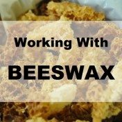 working with beeswax