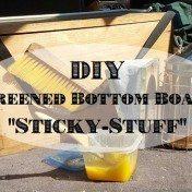 diy screened bottom board sticky-stuff